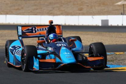 Hildebrand in first BHA test at IndyCar Sonoma, Franchitti fastest
