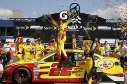 Michigan NASCAR: Joey Logano takes first win with Penske