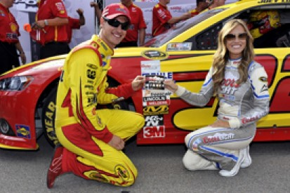 Michigan NASCAR: Joey Logano sets record pole