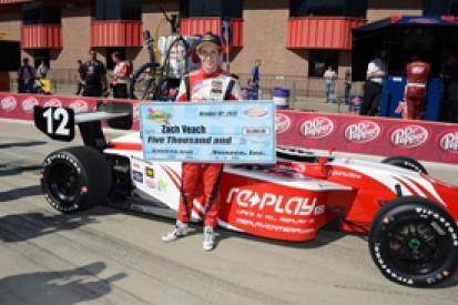 Fontana Indy Lights: Zach Veach secures maiden pole