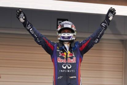 Japanese GP: Sebastian Vettel defeats Mark Webber and Romain Grosjean