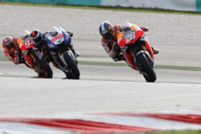Sepang MotoGP: Dani Pedrosa escapes to claim victory