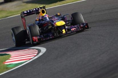 Japanese GP: Mark Webber fastest as Sebastian Vettel hits trouble