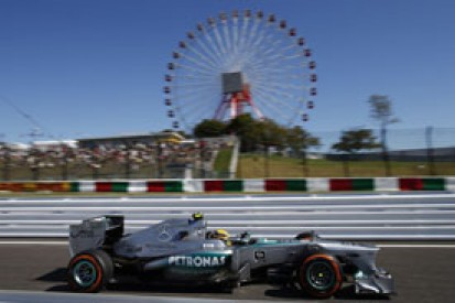 Japanese GP: Lewis Hamilton leads Mercedes one-two in FP1