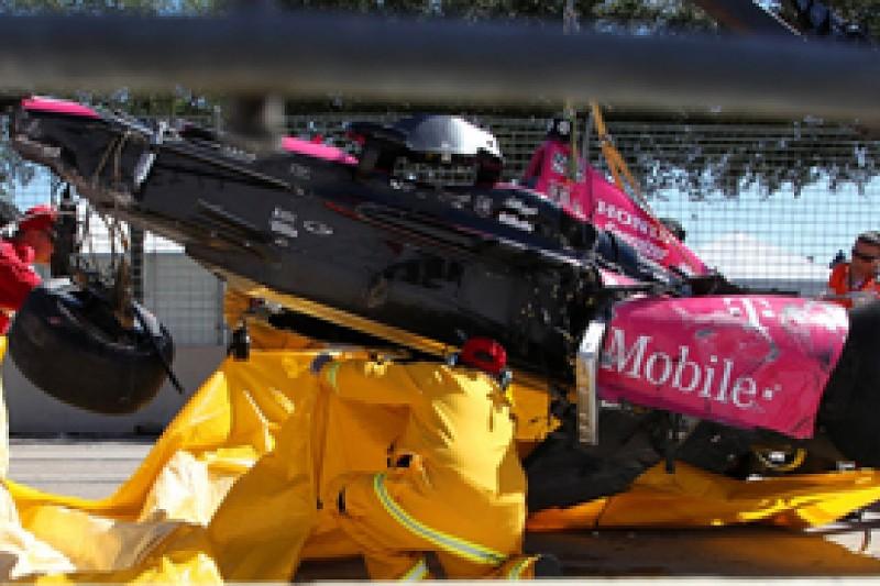 Takuma Sato relieved at Dario Franchitti IndyCar Houston crash escape