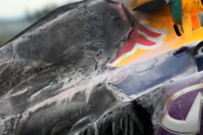 Korean GP: Mark Webber's Red Bull fire due to burst oil radiator