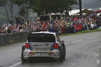 WRC France: Sebastien Ogier takes lead, Sebastien Loeb crashes out