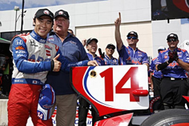 Houston IndyCar: Takuma Sato secures pole for AJ Foyt Racing