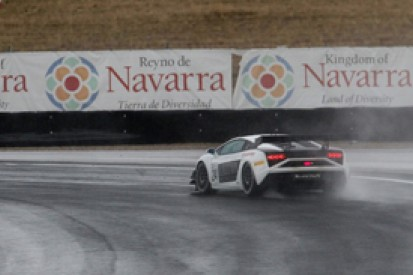 Navarra FIA GT: Reiter Lamborghini takes pole in wet session