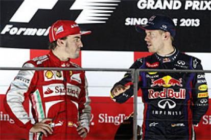 Vettel trouble now Ferrari's main hope in 2013 Formula 1 title bid