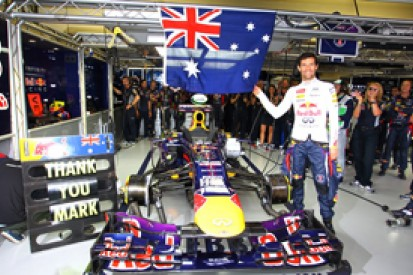 Red Bull sure Mark Webber was quick enough to stay on in Formula 1