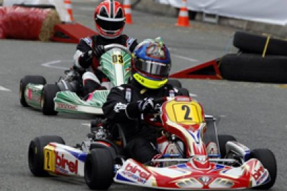 Helio Castroneves, Julian Leal win Juan Pablo Montoya's kart race