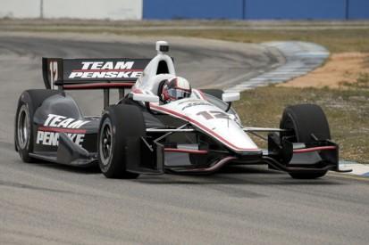 Juan Pablo Montoya begins IndyCar test return with Penske