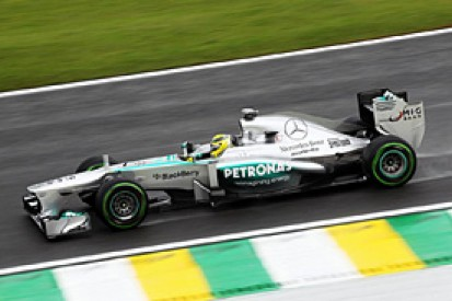 Brazilian GP: Nico Rosberg stays on top in wet second practice