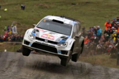 Sebastien Ogier leads Rally GB from Volkswagen team-mate Latvala