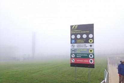 US GP: fog delays start of first F1 practice