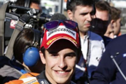 Valencia MotoGP: Marc Marquez beats Jorge Lorenzo to decider pole