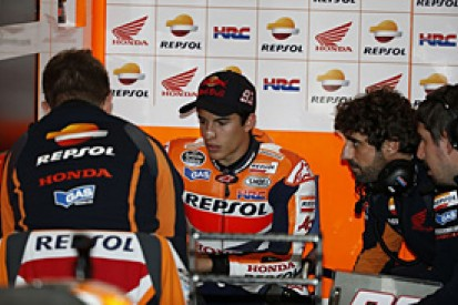 Valencia MotoGP: Marquez edges Lorenzo in first practice