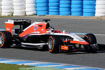Marussia unveils its 2014 F1 car, the MR03, at Jerez