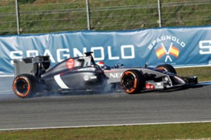 Adrian Sutil's Sauber crash in Jerez F1 test due to driver error