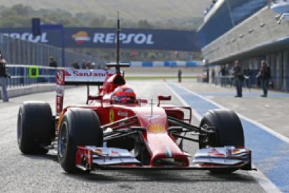 Kimi Raikkonen's mileage in first F1 test pleases Ferrari