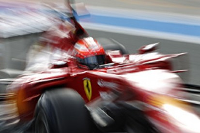 Raikkonen: lack of running was expected on first day of F1 test