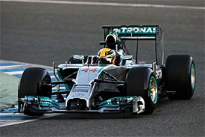Jerez F1 test: Hamilton sets early pace before crashing