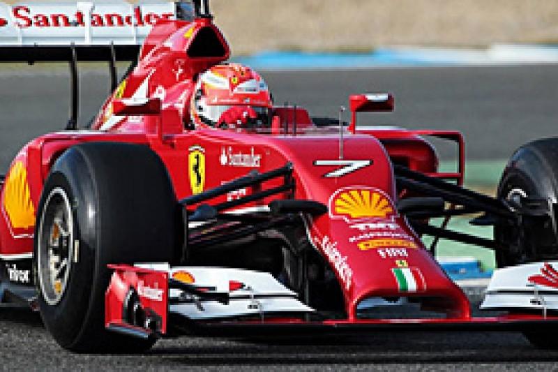 Jerez F1 test: Raikkonen quickest for Ferrari on first day of 2014