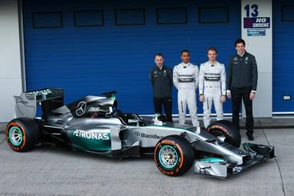 Mercedes launches its 2014 W05 Formula 1 car