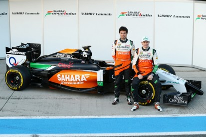 Force India's VJM07 2014 Formula 1 car makes public debut