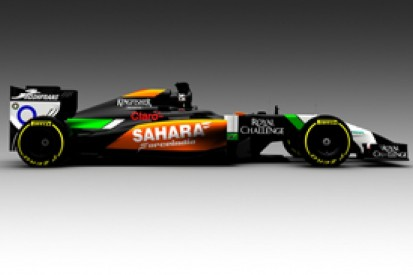 Force India and Toro Rosso hit track with 2014 Formula 1 cars