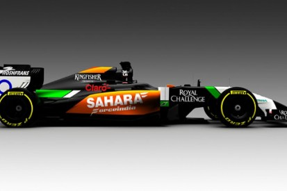 Force India reveals first image of new VJM07 2014 F1 car