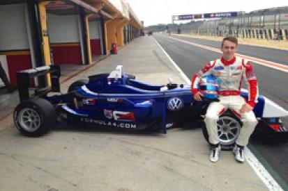 BRDC Formula 4 champion Jake Hughes quick in Carlin Formula 3 test