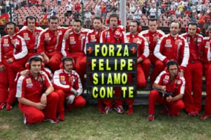 Felipe Massa hails Ferrari for supporting him after his 2009 crash