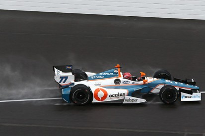 Simon Pagenaud fastest in wet IndyCar practice at Indianapolis