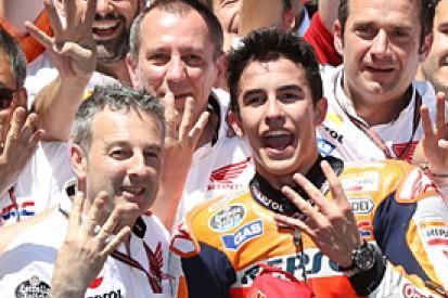 Jerez MotoGP: Marc Marquez flies to fourth straight win