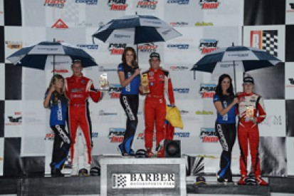 Barber Indy Lights: Gabby Chaves wins shortened second race