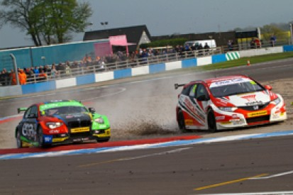 Donington BTCC: Gordon Shedden gives Honda Civic Tourer first win