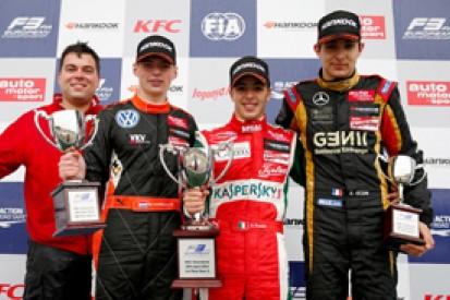 Silverstone European F3: Ferrari protege Fuoco wins race three