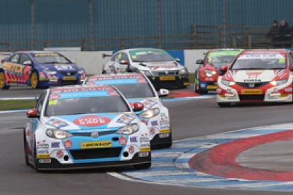 Donington BTCC: Jason Plato leads MG one-two in wet race one