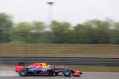 Chinese GP: Red Bull's Daniel Ricciardo leads damp final practice