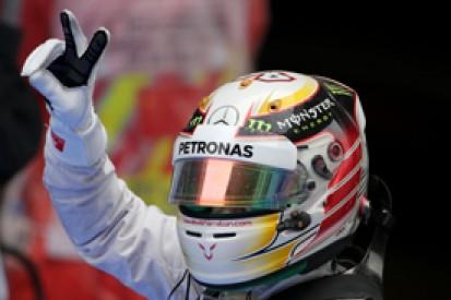 Chinese GP: Lewis Hamilton continues Mercedes' pole run in damp