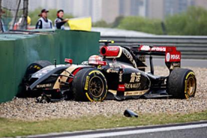 Chinese GP: Maldonado takes full blame for practice crash