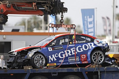 WTCC: Tom Coronel shocked by the condition of his crashed car