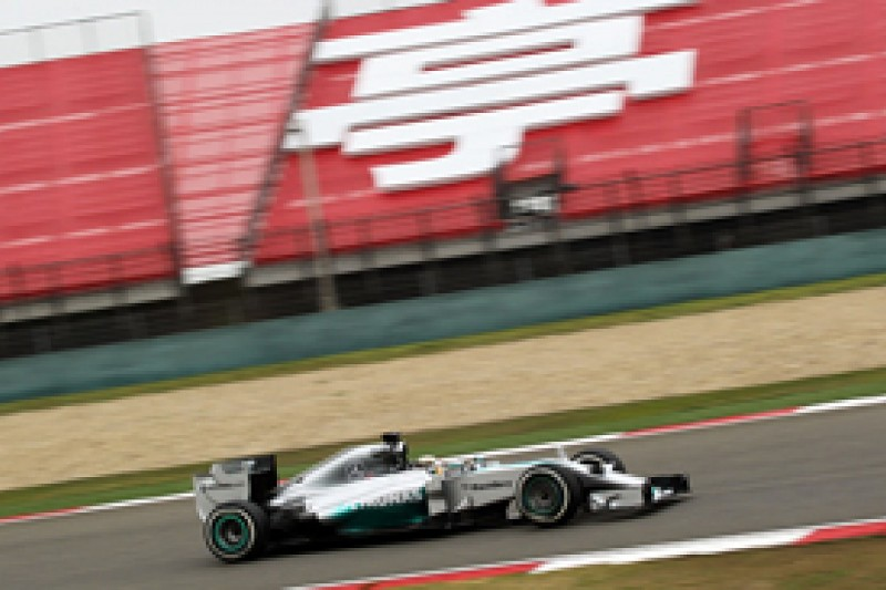 Chinese GP: Mercedes' Lewis Hamilton recovers to lead practice two