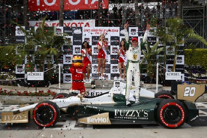 Long Beach IndyCar: Mike Conway wins crazy race for Carpenter
