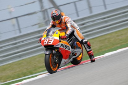 Austin MotoGP: Marc Marquez storms to pole in all-Honda front row