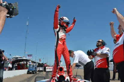 St Petersburg Indy Lights: Zach Veach claims first victory