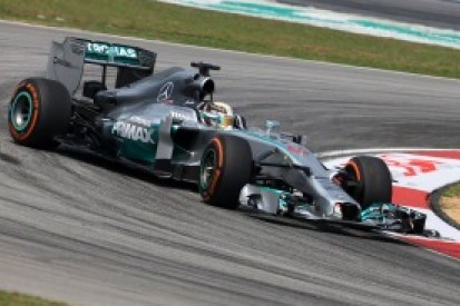Malaysian GP: Lewis Hamilton fastest for Mercedes in practice one