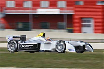 Ex-F1 driver Jarno Trulli tests Formula E car in France